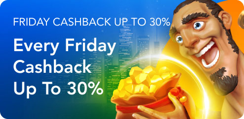 Friday Cashback up to 30%